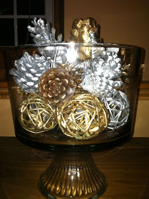 silver and gold decorations   wedding centerpieces   Pinterest