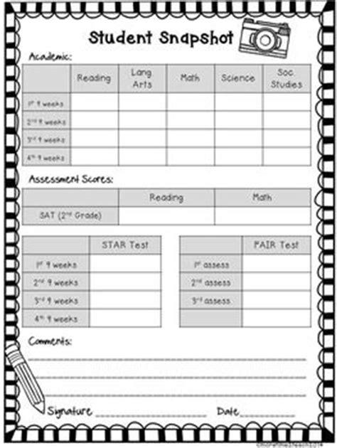 free editable parent conference form education