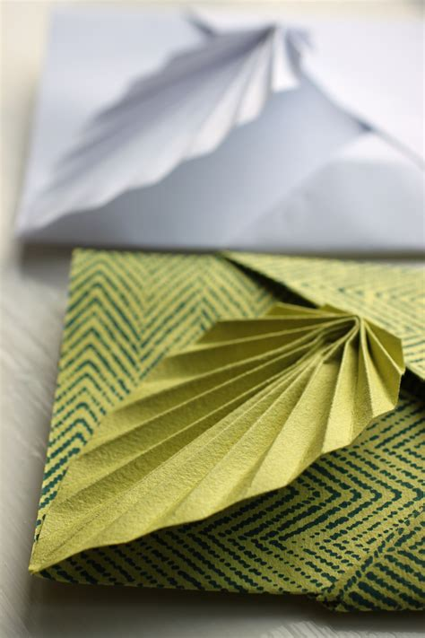 Simple Origami Leaf - easy origami leaf card shelley makes
