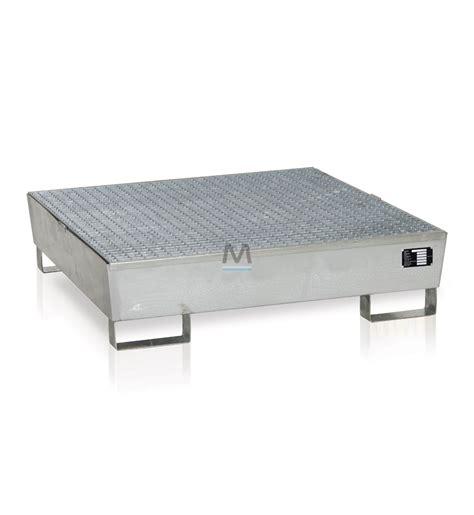 vasca di contenimento vasca di contenimento per 4 fusti in acciaio zincato