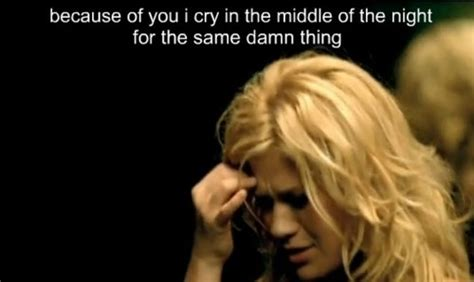 because of you kelly clarkson because of you