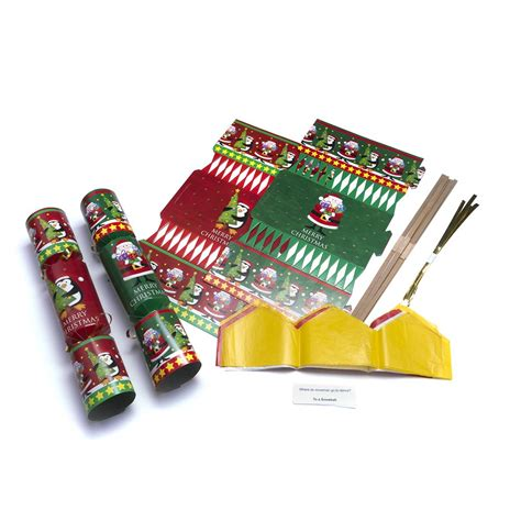 christmas cracker supplies large cracker kit 6 pack crafts from crafty crocodiles uk