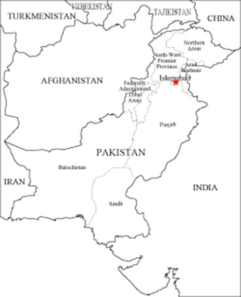 Afghanistan Pakistan Map Outline by Marxist Pakistan Geography Contd 1