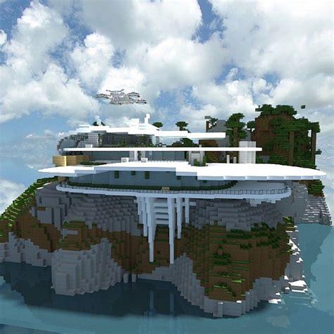 white sea mansion inspired by stark mansion minecraft