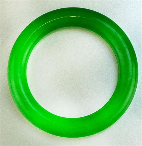 Chinese Imperial Green Jade Bangle