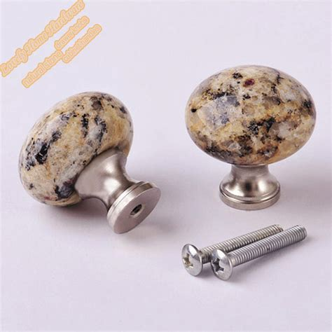 Draw Knobs by Unique Santa Cecilia Granite Cabinet Hardware 32mm Small