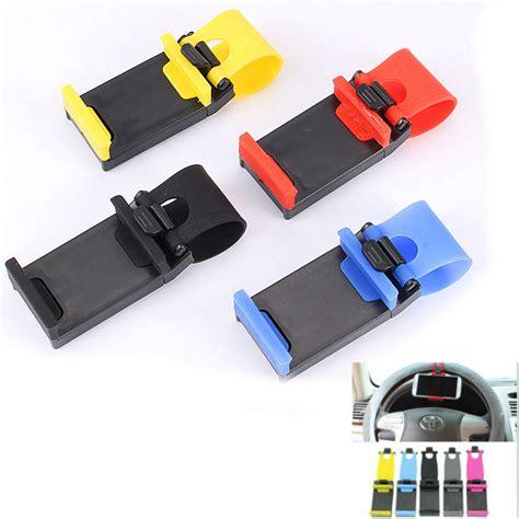 Steering Wheel Phone Holder Black 2010 universal car steering wheel bike clip mount holder for