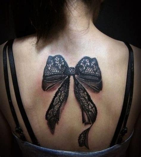 Back Tattoo Bow | 75 trendy bow tattoo designs