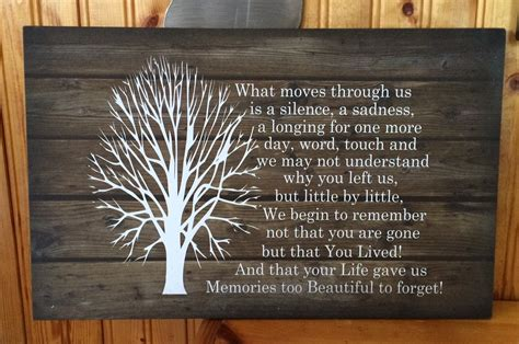 memorial gifts sympathy gift beautiful memories beautiful soul wood sign or canvas wall