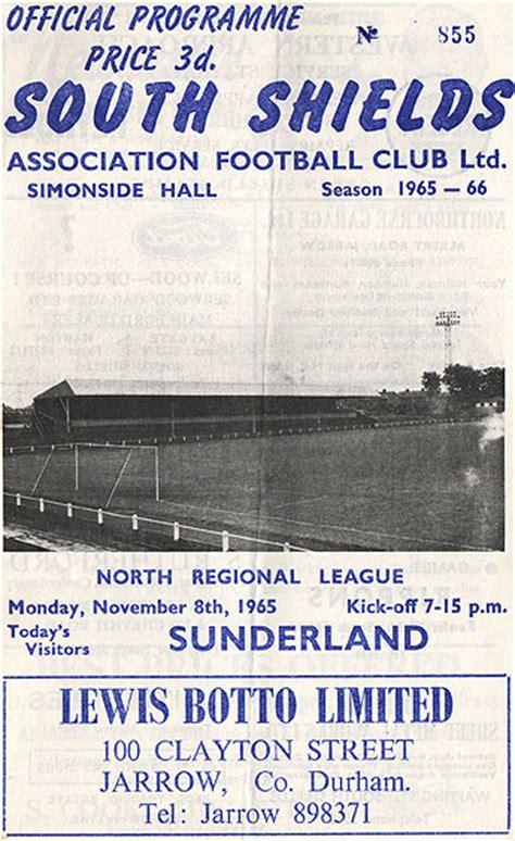 old photograph of south shields v sunderland fc programme