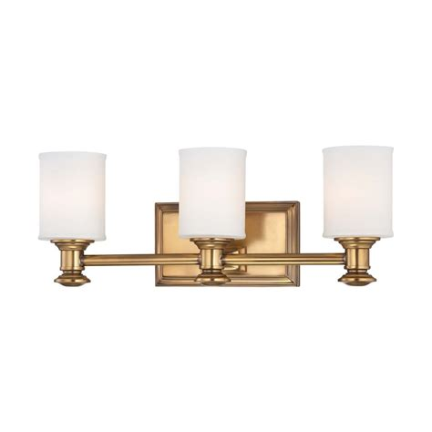 Gold Bathroom Lighting Bathroom Light With White Glass In Liberty Gold Finish 5173 249 Destination Lighting