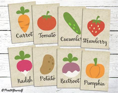 Garden Signs For Vegetables Vegetable Signs Instant Printable Vegetable
