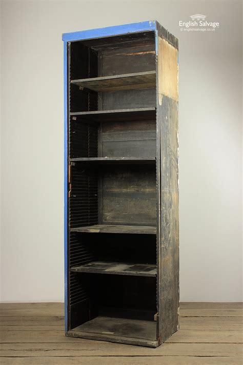 reclaimed six shelf wood file cabinet