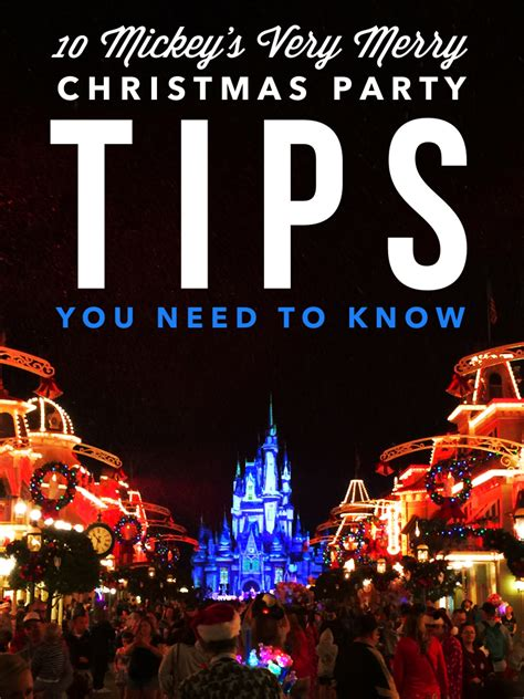 mickeys  merry christmas party tips     kids activities