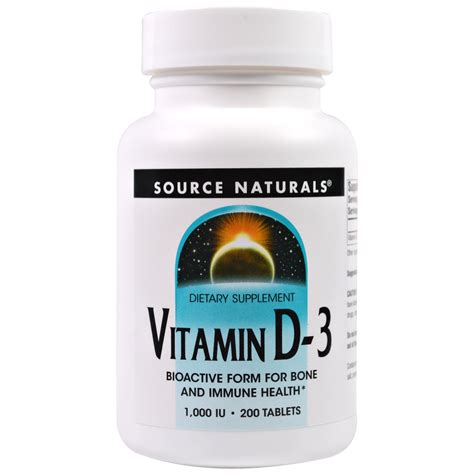 Vitamin A 200 000 Iu Source Naturals Vitamin D 3 1 000 Iu 200 Tablets