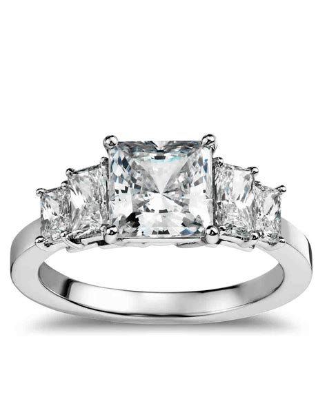 princess cut engagement rings martha stewart