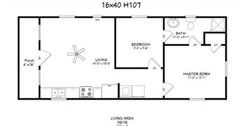 16x40 Floor Plans Windows Full Bath W D Hookup Loft W 16x40 Lofted Cabin Floor Plans