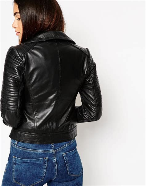 Asos Ultimate Leather Jacket asos ultimate biker jacket in leather in black lyst