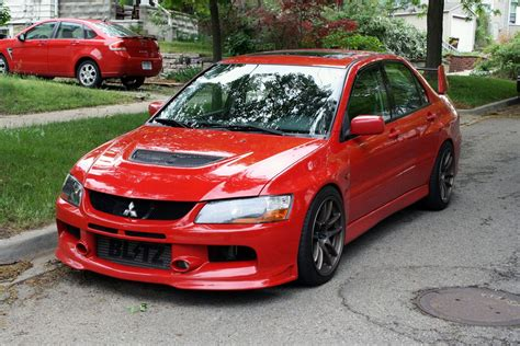 mitsubishi evo red mitsubishi lancer evolution tech oem upgrades modified
