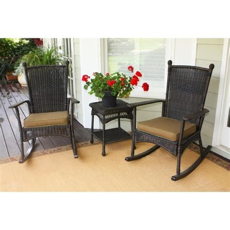 tortuga patio furniture tortuga portside 3 patio bistro set in roast