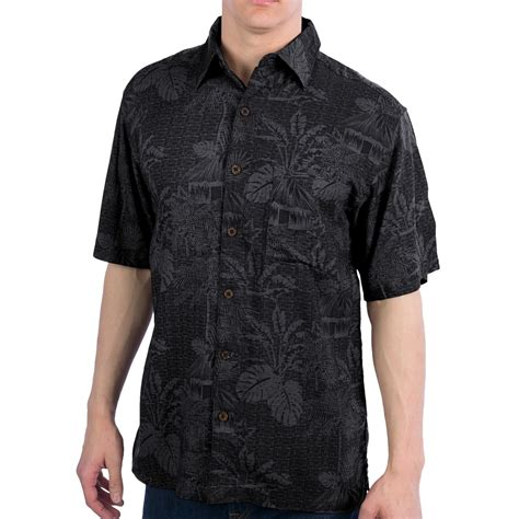 mens patterned button up caribbean joe pattern shirt button up short sleeve for