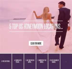 5 Top Us Honeymoon Locations 5 top us honeymoon locations lifestyle