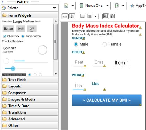 android layout weight calculation bmi calculator in android february 2014