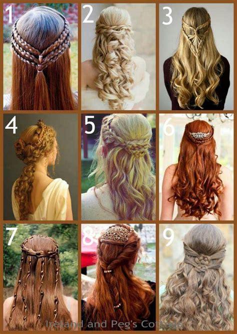 celtic hair styles hair styles renaissance hairstyles