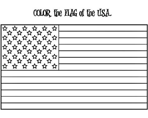 flag coloring page for kindergarten american flag coloring page w free extension activities