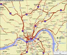 cincinnati in us map map of cincinnati ohio vacations travel map