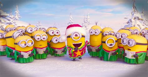 minions sing  christmas carol   merry christmas funny video
