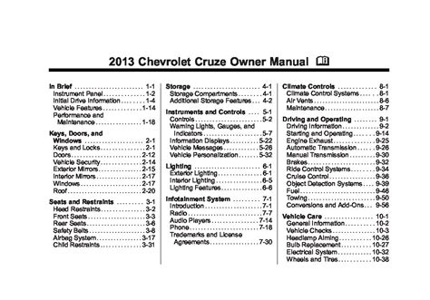 service repair manual free download 2013 chevrolet cruze on board diagnostic system 2013 chevrolet cruze owners manual just give me the damn manual