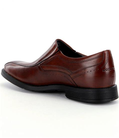 bike toe dress shoes lyst rockport dressport business bike toe slip on dress