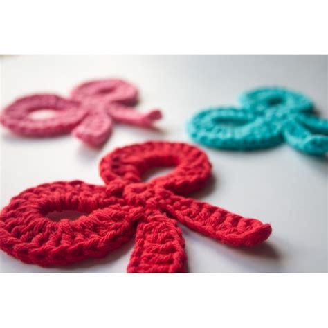 pattern crochet ribbon bow applique crochet