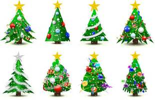 gorgeous christmas tree vector free vector 4vector