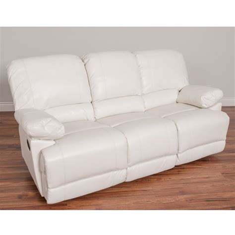 white leather reclining sofa leather reclining sofa in white lzy 311 s