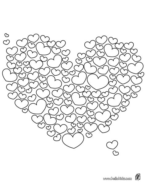 Free Printable Coloring Pages Hearts 2015 Hearts Coloring Page