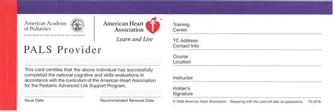american association bls card template replacement card acls 11 50 m and m enterprises