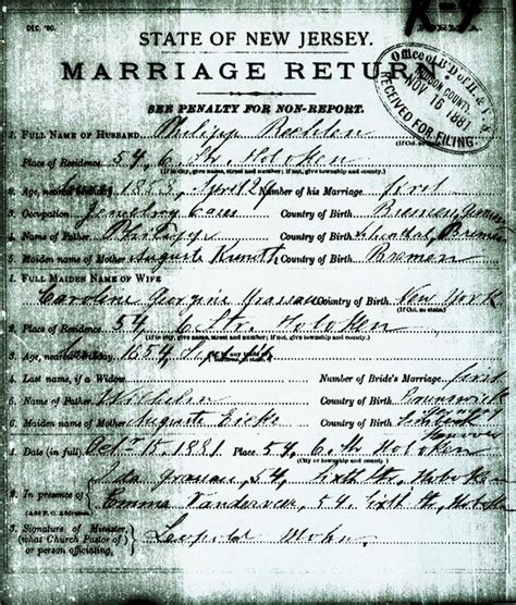 Bergen County Nj Marriage Records Legacy Roots Rechten Branch Philipp Rechten