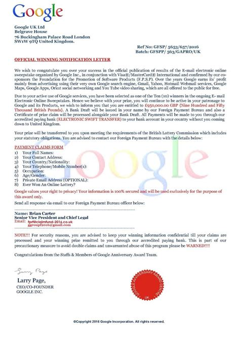 official notification letter official award email rushdans tm my