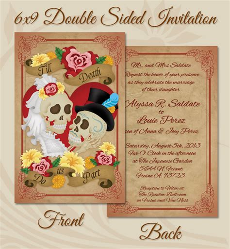 Dia De Los Muertos Wedding Invitations
