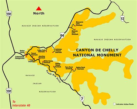 arizona canyons map de chelly national monument navajo indian