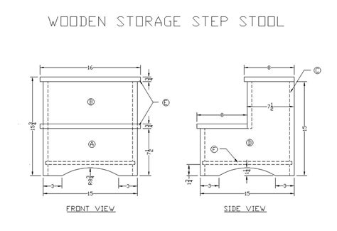 Wooden Step Stool Plans Free by Learn How To Make A Wooden Storage Step Stool Free