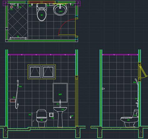 autocad layout not at 0 0 bathroom layout free cad blocks and cad drawing