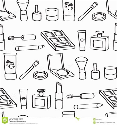 makeup cartoon wallpaper cartoon cosmetics seamless background stock illustration