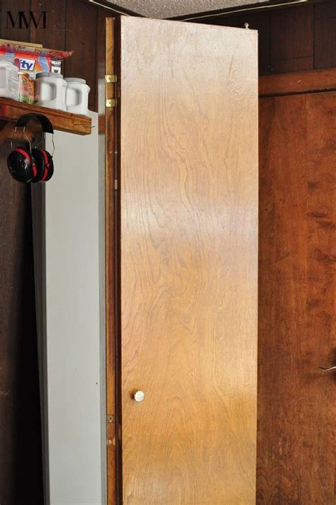update dark wood  bi fold closet doors bifold