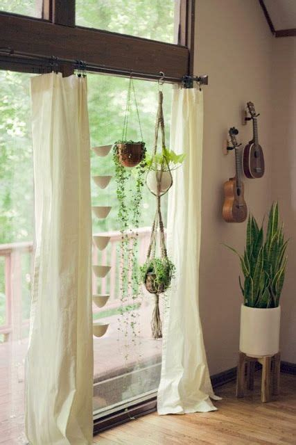hanging ropemacrame plant hangers  curtain rods
