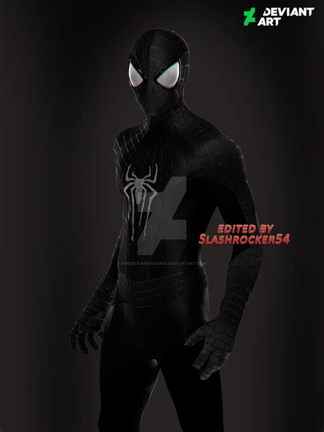 black suit spider 3 the amazing spider black suit drawing