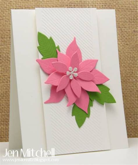 Poinsettia Paper Craft - pink poinsettia by jenmitchell cards and paper crafts at