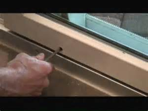 adjusting sliding glass doors